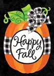 Gingham Pumpkin Decorative Garden Flag