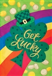 Get Lucky Applique Garden Flag