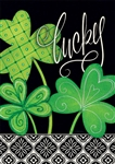 Lucky Clovers Decorative Garden Flag