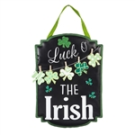 St. Patrick's Day Chalkboard Burlap Door Decor