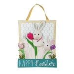 Bunny Trio Burlap Door Decor