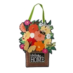 Garden Friends Welcome Burlap and Felt Door Decor