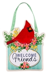 Spring Floral Cardinal Door Decor