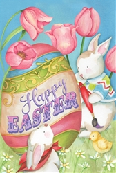 Happy Easter Egg Decorative House Flag