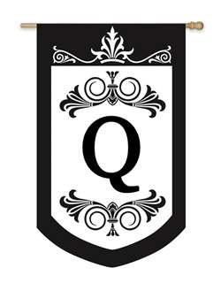 Regalia Monogram House Flag Q