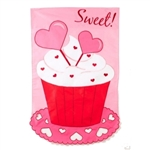 Sweet! Treat Applique House Flag