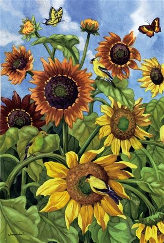 Sunflower Field Garden Flag