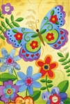 Beautiful Butterfly Decorative House Flag