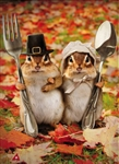 Thanksgiving Gothic Chipmunks Garden Flag