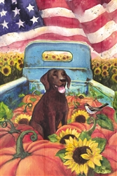 All American Dog Decorative Garden Flag