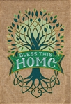 Celtic Tree of Life Burlap Decorative Garden Flag