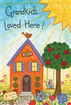 Grandkids Loved Here Decorative Garden Flag