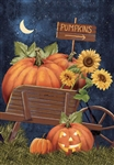Pumpkins This Way Two-Sided Decorative Garden Flag