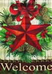 Christmas Country Star Garden Flag