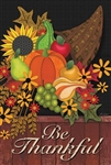 Be Thankful Garden Flag