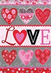 Love Collage Decorative Garden Flag