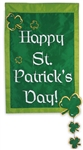 Happy St. Pat's Applique Garden Flag