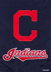 Cleveland Indians Applique Garden Flag