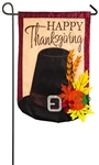 Thanksgiving Pilgrim Hat Applique Garden Flag