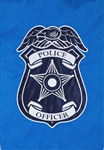 Police Applique Garden Flag