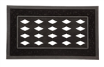 Sassafrass Scroll Doormat Tray, Black