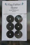 Rubber Stoppers (set of six) for Garden Flag Stand