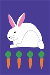 Bunny with Carrots Handcrafted Full Size House Flag