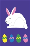 Bunny with Eggs Handcrafted Full Size House Flag