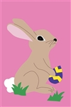 Cottontail with Egg Handcrafted Flag (full size)