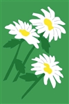 Daisies Handcrafted Full Size House Flag