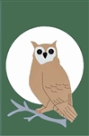 Owl with Moon Handcrafted Full Size House Flag