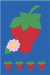 Strawberries Handcrafted Full-Size House Flag