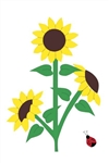 Sunflowers Handcrafted Full Size House Flag