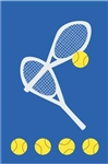 Tennis Handcrafted Full-Size House Flag