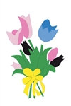 Tulip Bouquet Handcrafted Full Size House Flag