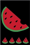 Watermelon Handcrafted Full-Size House Flag
