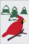Winter Cardinal Handcrafted Full-Size House Flag