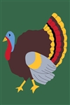 Tom Turkey Handcrafted Full-Size House Flag