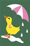 Quackin' in the Rain Handcrafted Full Size House Flag