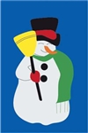 Snowman Handcrafted Full-Size House Flag