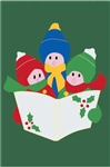 Carolers Handcrafted Full-Size House Flag