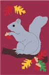 Squirrel Handcrafted Full-Size House Flag