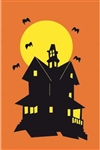 Haunted House Handcrafted Full-Size House Flag