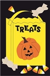 Trick or Treat Handcrafted Full-Size House Flag