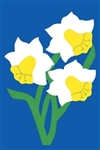 Daffodils Handcrafted Full Size House Flag