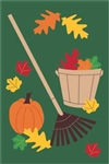 Raking Season Handcrafted Full-Size House Flag