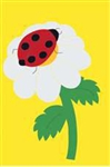 Ladybug Handcrafted Full-Size House Flag