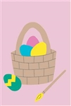 Easter Basket Handcrafted Full-Size House Flag