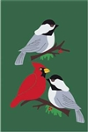 Winter Birds Handcrafted Full-Size House Flag