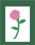 Rose Handcrafted Garden-Size Flag